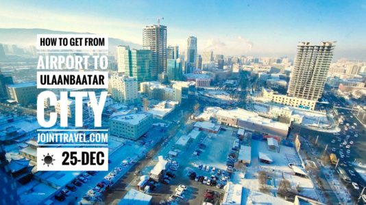 How to get from airport to Ulaanbaatar city
